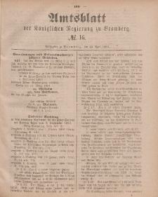 Amtsblatt der Königlichen Preußischen Regierung zu Bromberg, 20. April 1883, Nr. 16