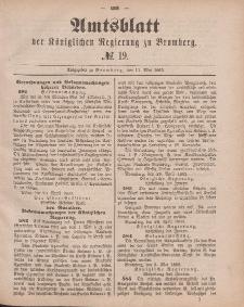 Amtsblatt der Königlichen Preußischen Regierung zu Bromberg, 11. Mai 1883, Nr. 19