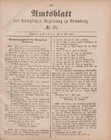 Amtsblatt der Königlichen Preußischen Regierung zu Bromberg, 18. Mai 1883, Nr. 20