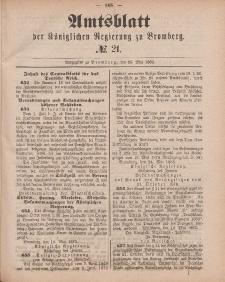 Amtsblatt der Königlichen Preußischen Regierung zu Bromberg, 25. Mai 1883, Nr. 21