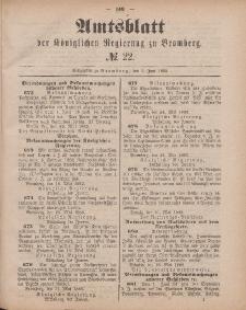 Amtsblatt der Königlichen Preußischen Regierung zu Bromberg, 1. Juni 1883, Nr. 22