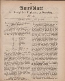Amtsblatt der Königlichen Preußischen Regierung zu Bromberg, 8. Juni 1883, Nr. 23