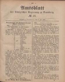 Amtsblatt der Königlichen Preußischen Regierung zu Bromberg, 15. Juni 1883, Nr. 24