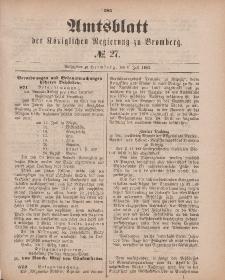 Amtsblatt der Königlichen Preußischen Regierung zu Bromberg, 6. Juli 1883, Nr. 27