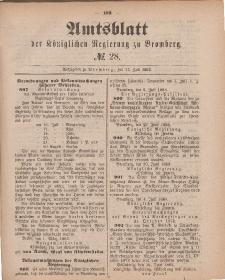 Amtsblatt der Königlichen Preußischen Regierung zu Bromberg, 13. Juli 1883, Nr. 28