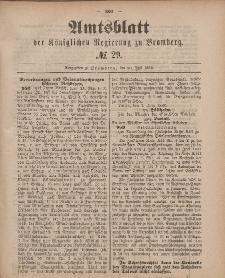 Amtsblatt der Königlichen Preußischen Regierung zu Bromberg, 20. Juli 1883, Nr. 29