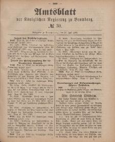 Amtsblatt der Königlichen Preußischen Regierung zu Bromberg, 27. Juli 1883, Nr. 30