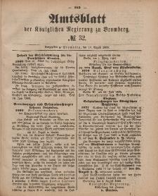 Amtsblatt der Königlichen Preußischen Regierung zu Bromberg, 10. August 1883, Nr. 32