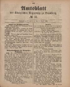 Amtsblatt der Königlichen Preußischen Regierung zu Bromberg, 17. August 1883, Nr. 33
