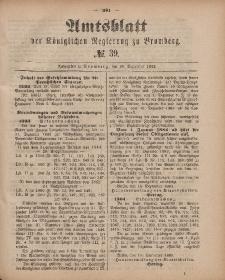 Amtsblatt der Königlichen Preußischen Regierung zu Bromberg, 28. September 1883, Nr. 39