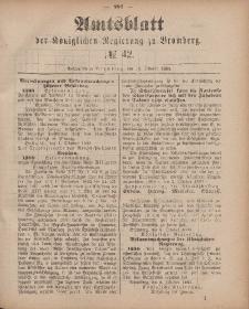 Amtsblatt der Königlichen Preußischen Regierung zu Bromberg, 19. Oktober 1883, Nr. 42