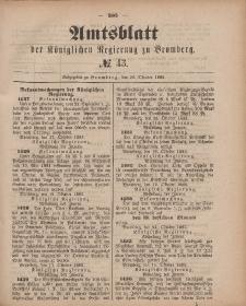 Amtsblatt der Königlichen Preußischen Regierung zu Bromberg, 26. Oktober 1883, Nr. 43