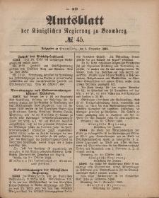 Amtsblatt der Königlichen Preußischen Regierung zu Bromberg, 9. November 1883, Nr. 45