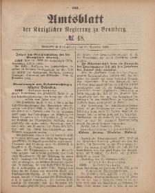 Amtsblatt der Königlichen Preußischen Regierung zu Bromberg, 30. November 1883, Nr. 48