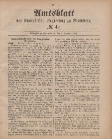 Amtsblatt der Königlichen Preußischen Regierung zu Bromberg, 7. Dezember 1883, Nr. 49