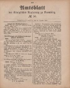 Amtsblatt der Königlichen Preußischen Regierung zu Bromberg, 14. Dezember 1883, Nr. 50