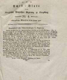 Amts-Blatt der Königlichen Preußischen Regierung zu Königsberg, Mittwoch, 27. Januar 1830, Nr. 4