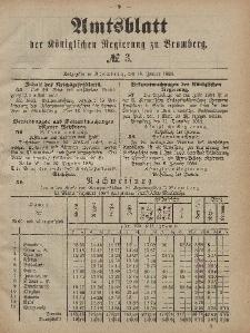 Amtsblatt der Königlichen Preußischen Regierung zu Bromberg, 18. Januar 1884, Nr. 3
