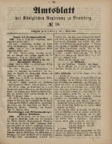 Amtsblatt der Königlichen Preußischen Regierung zu Bromberg, 7. März 1884, Nr. 10