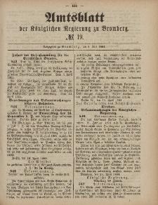 Amtsblatt der Königlichen Preußischen Regierung zu Bromberg, 9. Mai 1884, Nr. 19