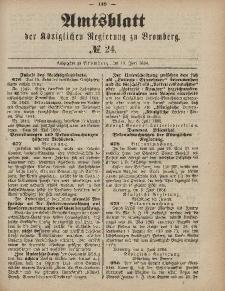 Amtsblatt der Königlichen Preußischen Regierung zu Bromberg, 13. Juni 1884, Nr. 24