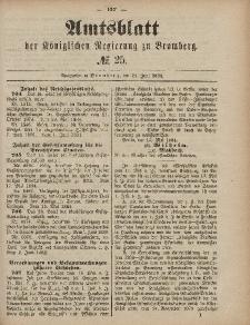Amtsblatt der Königlichen Preußischen Regierung zu Bromberg, 20. Juni 1884, Nr. 25