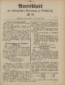 Amtsblatt der Königlichen Preußischen Regierung zu Bromberg, 25. Juli 1884, Nr. 30