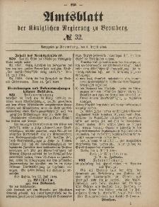 Amtsblatt der Königlichen Preußischen Regierung zu Bromberg, 8. August 1884, Nr. 32