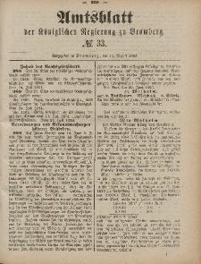 Amtsblatt der Königlichen Preußischen Regierung zu Bromberg, 15. August 1884, Nr. 33