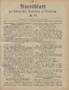 Amtsblatt der Königlichen Preußischen Regierung zu Bromberg, 3. Oktober 1884, Nr. 40