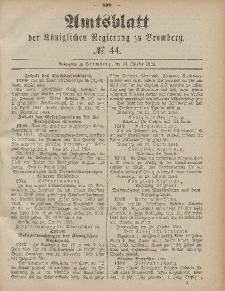 Amtsblatt der Königlichen Preußischen Regierung zu Bromberg, 31. Oktober 1884, Nr. 44