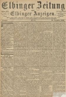 Elbinger Zeitung und Elbinger Anzeigen, Nr. 303 Dienstag 28. Dezember 1886
