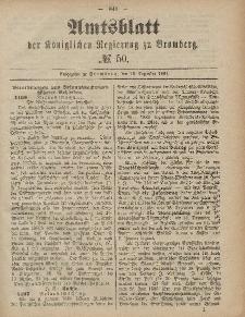Amtsblatt der Königlichen Preußischen Regierung zu Bromberg, 12. Dezember 1884, Nr. 50