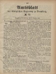 Amtsblatt der Königlichen Preußischen Regierung zu Bromberg, 27. Dezember 1884, Nr. 52