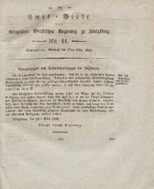 Amts-Blatt der Königlichen Preußischen Regierung zu Königsberg, Mittwoch, 17. März 1830, Nr. 11