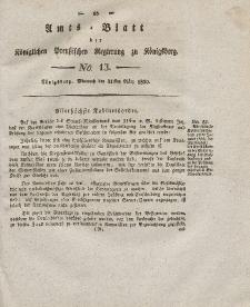 Amts-Blatt der Königlichen Preußischen Regierung zu Königsberg, Mittwoch, 31. März 1830, Nr. 13