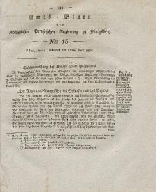 Amts-Blatt der Königlichen Preußischen Regierung zu Königsberg, Mittwoch, 14. April 1830, Nr. 15