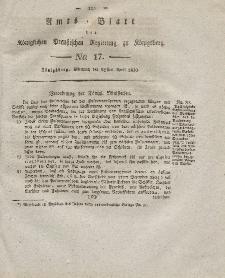 Amts-Blatt der Königlichen Preußischen Regierung zu Königsberg, Mittwoch, 28. April 1830, Nr. 17