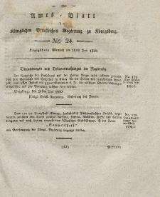 Amts-Blatt der Königlichen Preußischen Regierung zu Königsberg, Mittwoch, 16. Juni 1830, Nr. 24