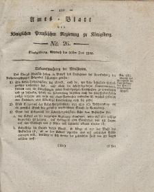 Amts-Blatt der Königlichen Preußischen Regierung zu Königsberg, Mittwoch, 30. Juni 1830, Nr. 26