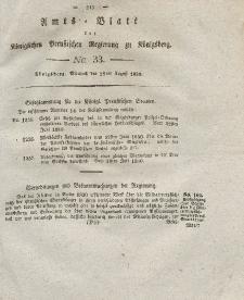 Amts-Blatt der Königlichen Preußischen Regierung zu Königsberg, Mittwoch, 18. August 1830, Nr. 33