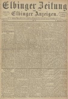 Elbinger Zeitung und Elbinger Anzeigen, Nr. 3 Freitag 4. Januar 1889