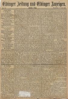 Elbinger Zeitung und Elbinger Anzeigen, Nr. 82 Sonnabend 6. April 1889