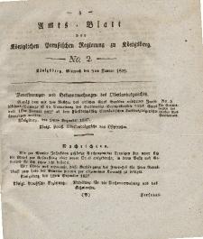 Amts-Blatt der Königlichen Preußischen Regierung zu Königsberg, Mittwoch, 9. Januar 1828, Nr. 2
