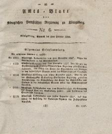 Amts-Blatt der Königlichen Preußischen Regierung zu Königsberg, Mittwoch, 6. Februar 1828, Nr. 6