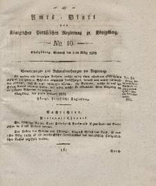 Amts-Blatt der Königlichen Preußischen Regierung zu Königsberg, Mittwoch, 5. März 1828, Nr. 10