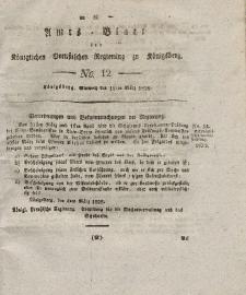 Amts-Blatt der Königlichen Preußischen Regierung zu Königsberg, Mittwoch, 19. März 1828, Nr. 12