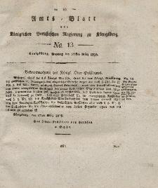 Amts-Blatt der Königlichen Preußischen Regierung zu Königsberg, Mittwoch, 20. März 1828, Nr. 13