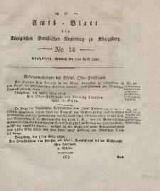 Amts-Blatt der Königlichen Preußischen Regierung zu Königsberg, Mittwoch, 2. April 1828, Nr. 14