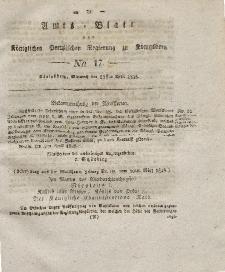 Amts-Blatt der Königlichen Preußischen Regierung zu Königsberg, Mittwoch, 23. April 1828, Nr. 17